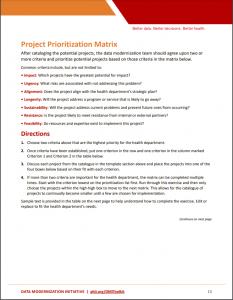 Prioritization matrix worksheet